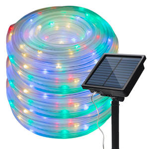 50/100 LEDs Solar Powered Rope Tube String Lights Outdoor Waterproof Fairy Lights Garden Garland For Christmas Yard Decoration