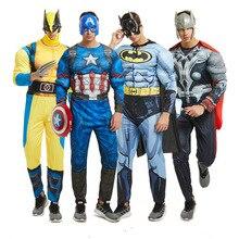 Disfraz de superhéroe de Halloween para adultos, disfraz de Wolverine, Capitán bat thunder, disfraz de superhéroe de la Liga