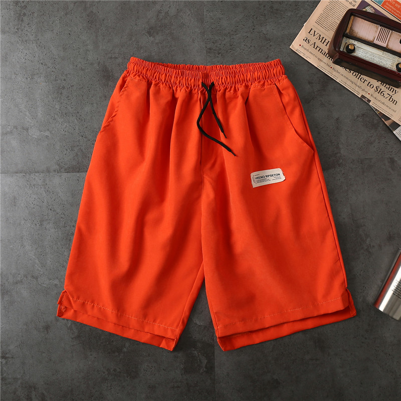 Summer Casual Men's Shorts Fashion Streetwear Harajuku Candy Colors Knee Length Hip Hop Simple Style Jogging Sports Shorts Homme