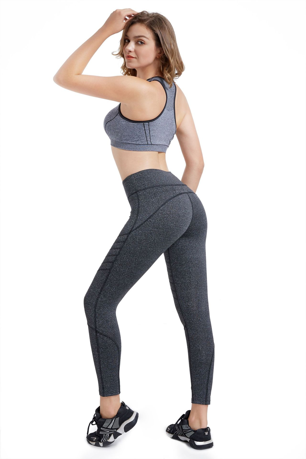 Hot Selling Autumn And Winter Women's Outdoor Sports Tight Slim Fit Plastic Leggings Fitness Yoga Pants