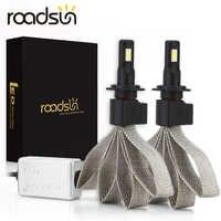 Roadsun S7 żarówki reflektorów samochodowych LED H4 H7 9005 H11 H8 H9 HB1 HB3 9006 9007 880 12V 55W 6000K 12000LM/para lampa Auto żarówka