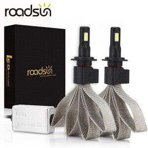Image 1 - Roadsun S7 سيارة المصابيح الأمامية LED H4 H7 9005 H11 H8 H9 HB1 HB3 9006 9007 880 12V 55W 6000K 12000LM/زوج مصباح السيارات لمبة إضاءة