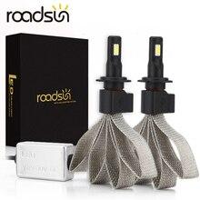 Roadsun bombillas de faro delantero S7 para coche, luz de bombilla automática, H4, H7, 9005, H11, H8, H9, HB1, HB3, 9006, 9007, 880, 12V, 55W, 6000K, 12000LM