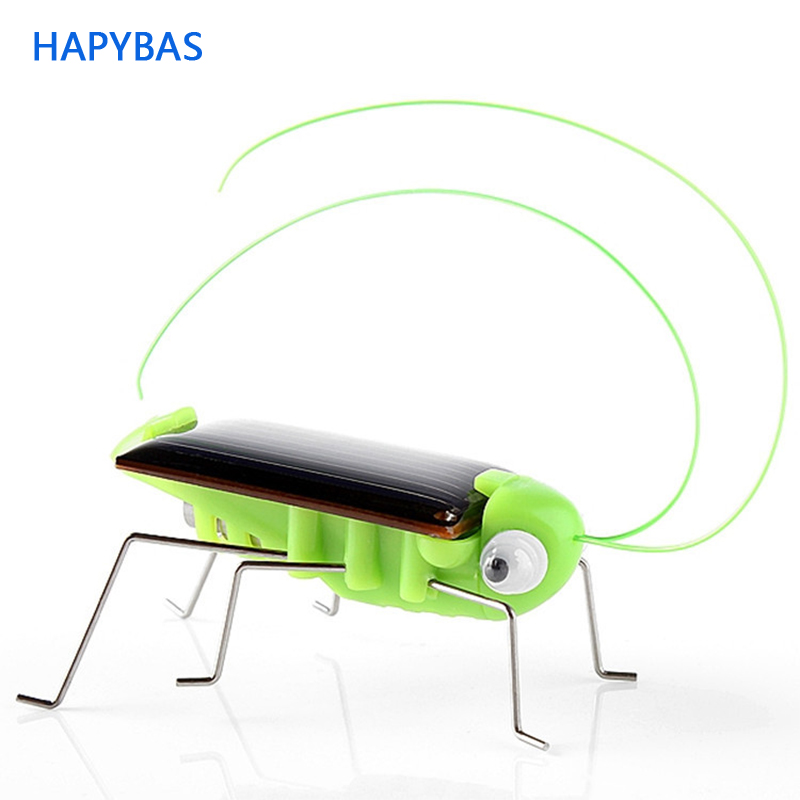 wholesale Solar Grasshopper Insect Bug Moving Toy, Lovely funny Mini Solar toy Insect Teaching Fun Gadget Toy Gift