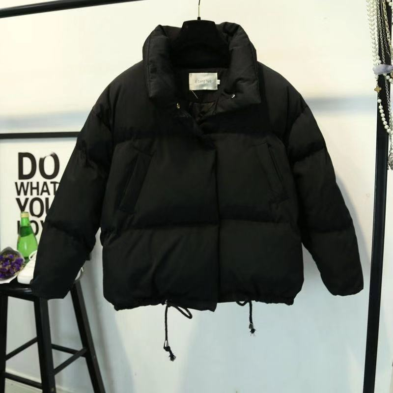 Women Short Jacket Stand Zipper Parka 2019 Winter  Jacket Coat Fashion Autumn Solid Warm Casual Padded Parka Female Coat Women