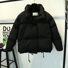Frauen Kurze Jacke Stehen Zipper Parka 2020 Winter Jacke Mantel Mode Herbst Feste Warme Casual Padded Parka Weiblichen Mantel Frauen