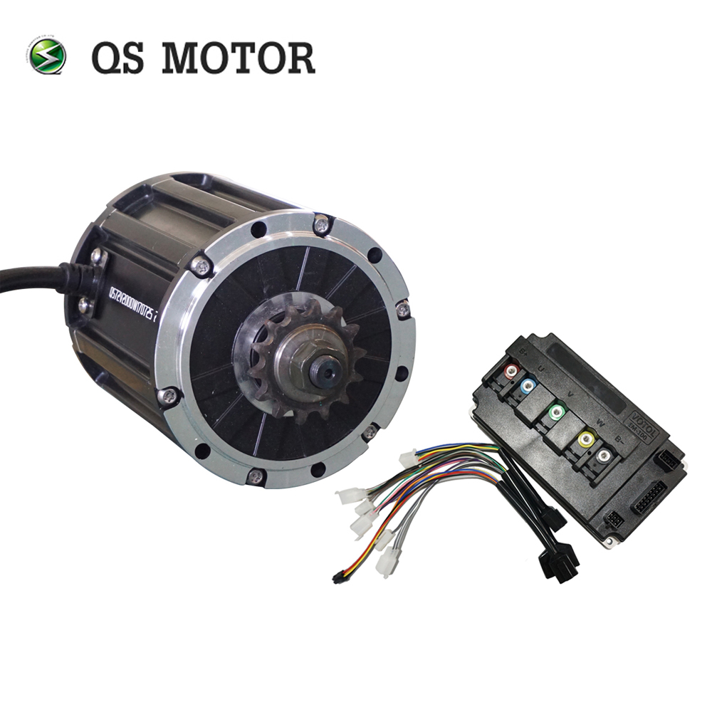 QS MOTOR 120 2000W Mid Drive Motor With Sprocket 428 And  EM100SP Controller For Electric Motorbike Z6 70KPH 72V