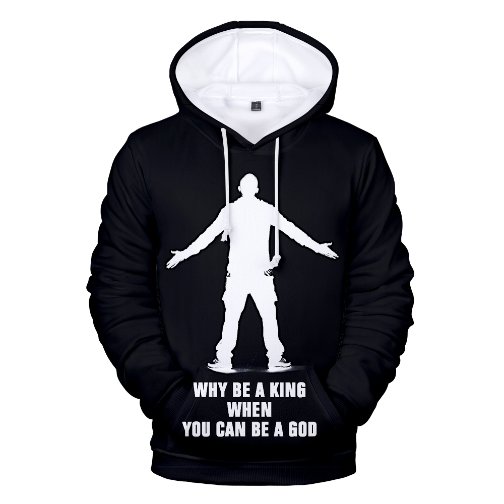 3D Printed Singer Eminem Hoodies Long Sleeve Sweatshirts Men Women Hoodie Autumn Kids Hooded Fashion Boys Girls Black Pullovers