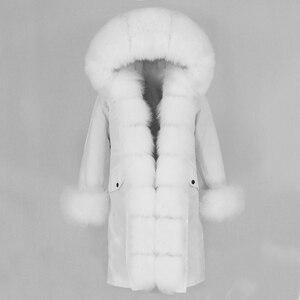 Image 3 - OFTBUY X long Parka Waterproof Outerwear Real Fur Coat Winter Jacket Women Natural Fox Fur Hood Luxury Outerwear Detachable New