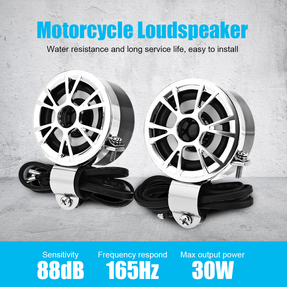 Original AV - M183 Motorcycle Loudspeaker 2 Pcs HiFi Full Range Car Audio Water Resistance With Universal 88dB Car Speakers