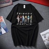 Friends Don't Lie Stranger Things Сезон 3 Веселая Молодежная Футболка Hawkins Топ летняя уличная хлопковая футболка с короткими рукавами