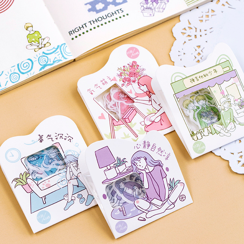Early Summer Series Cute Girl Bullet Journal Decorative Washi Stickers Scrapbooking Stick Label Diary Stationery Album Stickers