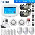 KERUI wifi домашняя сигнализация GSM TFT цветной дисплей wifi GSM сигнализация домашняя сигнализация охранный газовый датчик wifi камера IP охранная сиг...