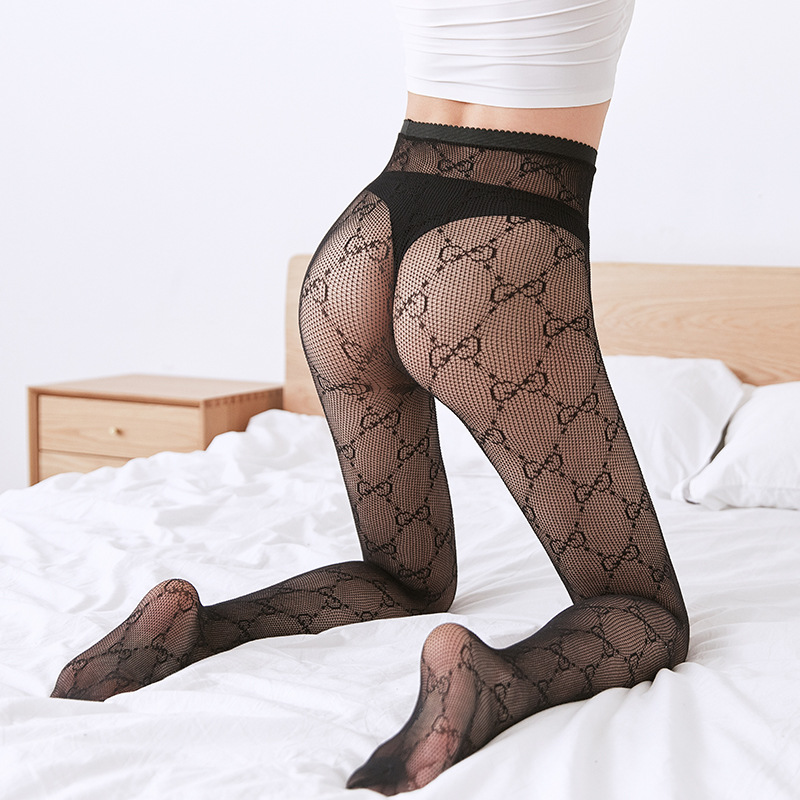 Women Sexy Fishnet Stockings Female Lettered Hollow Fishnet Stockings tights panty knitting net pantyhose trouser mesh|Tights| - AliExpress