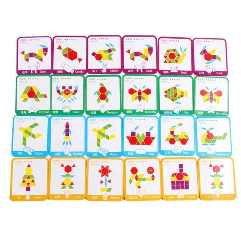 155 teile/satz Montessori Holz Puzzle Bord Set Bunte Baby Holz Spielzeug Kinder Lernen Entwicklung Bildung Spielzeug Geschenk