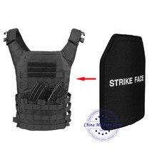 1pc STA Shooter Cut NIJ III Level Bulletproof Plate Anti ballistic Ceramic Plate For JPC Tactical Vest