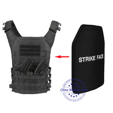 1pc STA Shooter Cut NIJ III Livello Piatto A Prova di Proiettile Anti ballistic Piatto In Ceramica Per Il JPC Tactical Vest