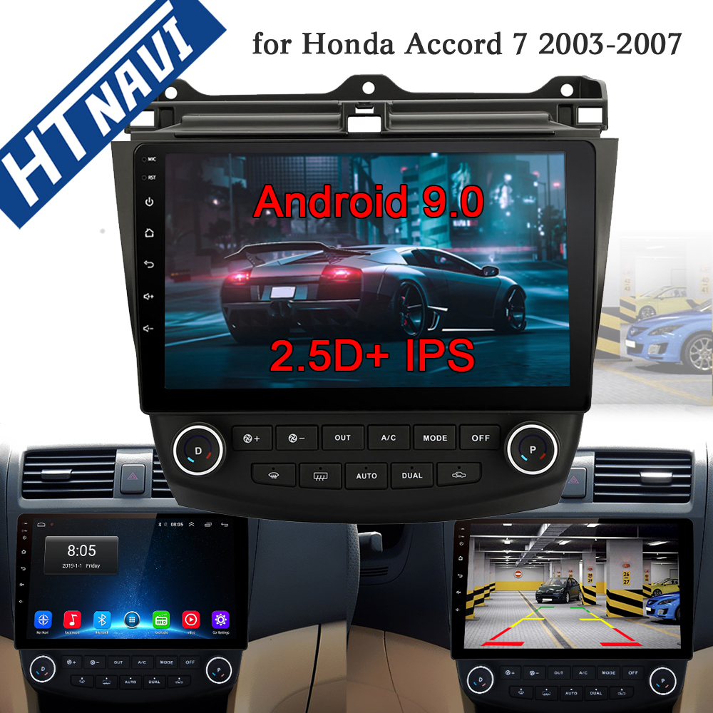 10,1 Android 9.0 Auto radio GPS Navigation für <font><b>Honda</b></font> <font><b>ACCORD</b></font> 7 <font><b>2003</b></font> <font><b>2007</b></font> Auto Multimedia DVR SWC FM CAM-IN BT <font><b>USB</b></font> TUPFEN DTV OBD PC image