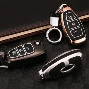 Image 5 - Coque de clé télécommande en alliage de Zinc, housse lumineuse pour Ford Fiesta Focus 2 3 MK2 MK3 Mondeo MK4 Ecosport Kuga Escape Ranger