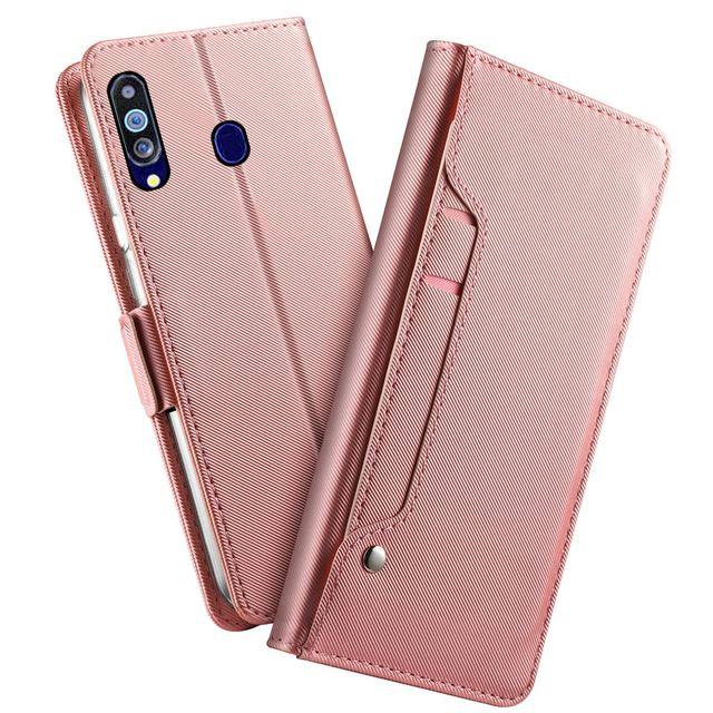 Için UMIDIGI A7 Pro A5 Pro kılıf lüks deri cüzdan Flip standı darbeye dayanıklı kapak için ayna ile UMIDIGI A3X durumda kart tutucu