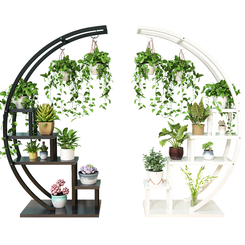 New Living Room Home Flower Shelf Multi-storey Indoor Special Offer Space Balcony Decorative Shelf Wrought Iron Flower Pot Rack