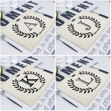 42*32Cm Geometric Letter Wedding Napkins Dining Table Mats Drink Coasters Linen Pads Kitchen Table Mats