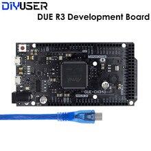 Devido r3 placa at91sam3x8e sam3x8e 32-bit braço Cortex-M3 módulo de placa de controle com cabo usb para arduino placa de desenvolvimento