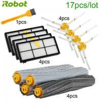 17 sztuk odkurzacz robot boczna szczotka filtra hepa roller zestaw części zamiennych do iRobot Roomba serii 900,800 iRobot część