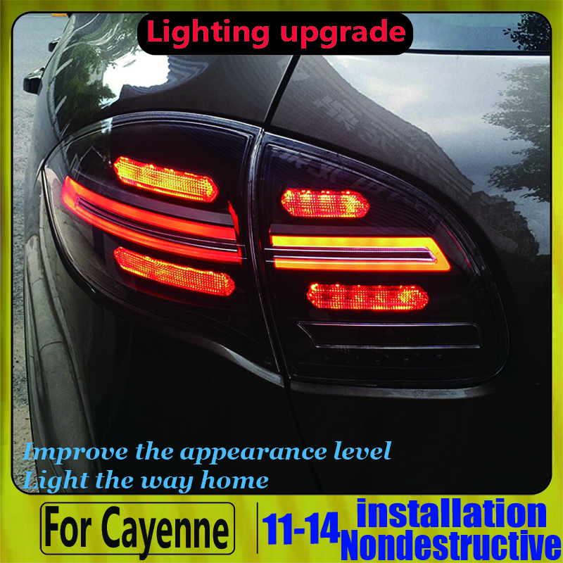 For Porsche Cayenne S Taillights 2011-2014 TAIL Lights All LED Cayenne Taillight Rear Lamp Dynamic Turn Signal