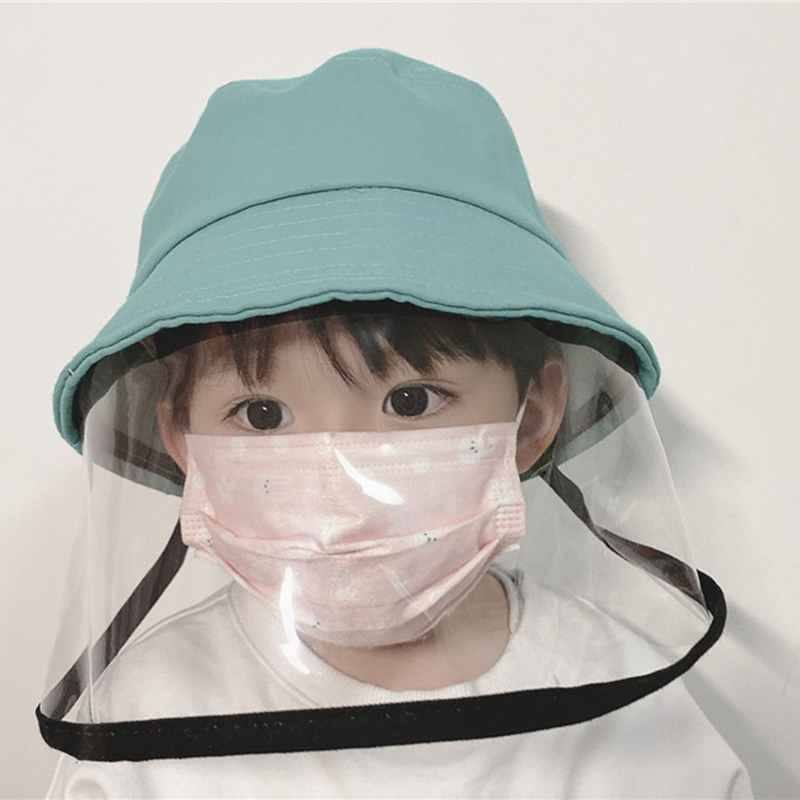 3-7 Year Children Mask Hat Anti-fog Protection Hat Prevent Droplets Caps Unisex Windproof Kids Fisherman's Cap