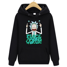 Brand Rick Morty Printed Hooded Hoodies Men Autumn Winter Cotton Long Sleeve Hip Hop Streetwear Clothing Man