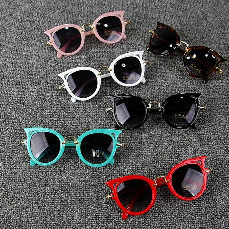 Hot Baby Summer Accessories Kid Goggles Boy Girl Glasses Protection Outdoor Holiday Sunglasses Cat Shape Sunglasses Gifts UV400