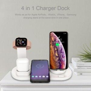 Image 5 - 3 in 1 Wireless Dock di Ricarica per iWatch di Apple Orologio 5 4 2 e Airpods iPhone 11 Pro Max X XR XS 8 Più Docking Stazione Del bacino del Caricatore