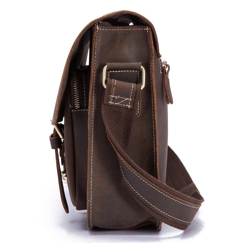 Bolsa de ombro masculina bolsa de couro