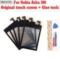 Сенсорный экран hkfatel для Nokia Asha 300, мобильный телефон, дигитайзер сенсорного экрана, стекло, внешняя передняя панель, замена без ЖК-дисплея + И...