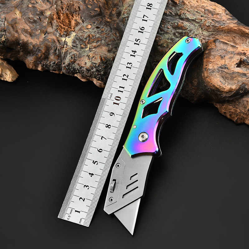 Нож из нержавеющей стали, нож для резки бумаги, настенный бумажный нож, открытый нож для охоты и кемпинга