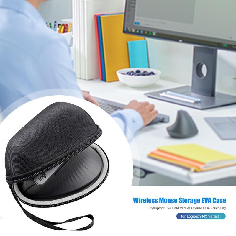 Shockproof EVA Hard Wireless Mouse Case Pouch Bag Travel Portable Black Protective Storage Case For Logitech MX Vertical