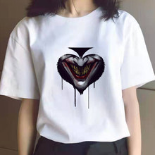 Suicide squads 3D Printed T Shirt Men/Women Joker Face Casual O-Neck Male T Shirt Clown Short Sleeve Cosplay Funny T Shirts
