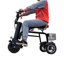 Три колеса Электрический трехколесный самокат с сиденьем для взрослых 3 колеса 450W 60V 7.8A Портативный электрический самокат