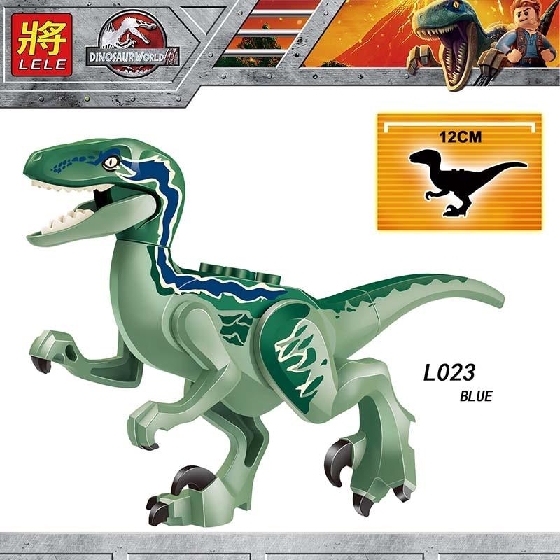 Single Sale Compatible LegoINGlys Dinosaur Jurassiic Park Figure CHARLIEL BLUE DILOPHOSAURUS ECHO Brick Action Toy Gift L018-029