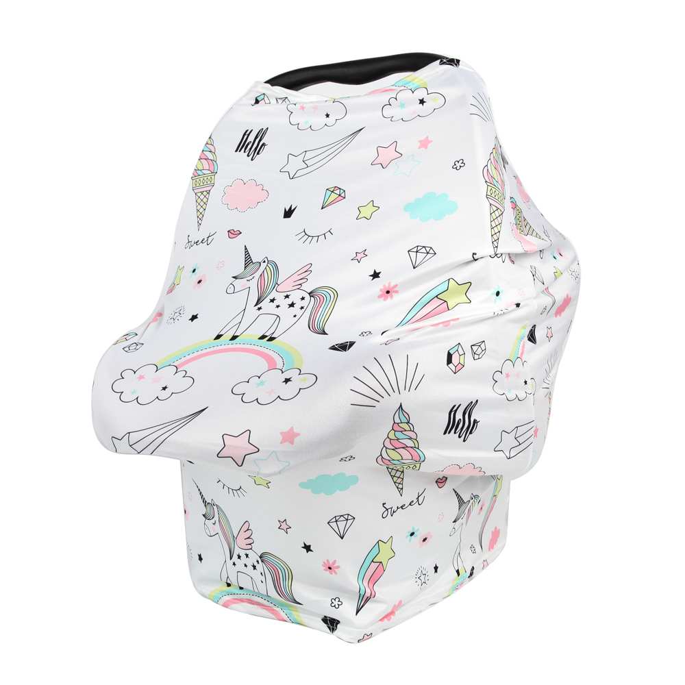 Infant Car Seat | Nursing Breastfeeding Privacy Cover 2020 New Cartoon Baby Scarf Infant Car Seat Stroller Breast Feeding Scarf Nursing Covers