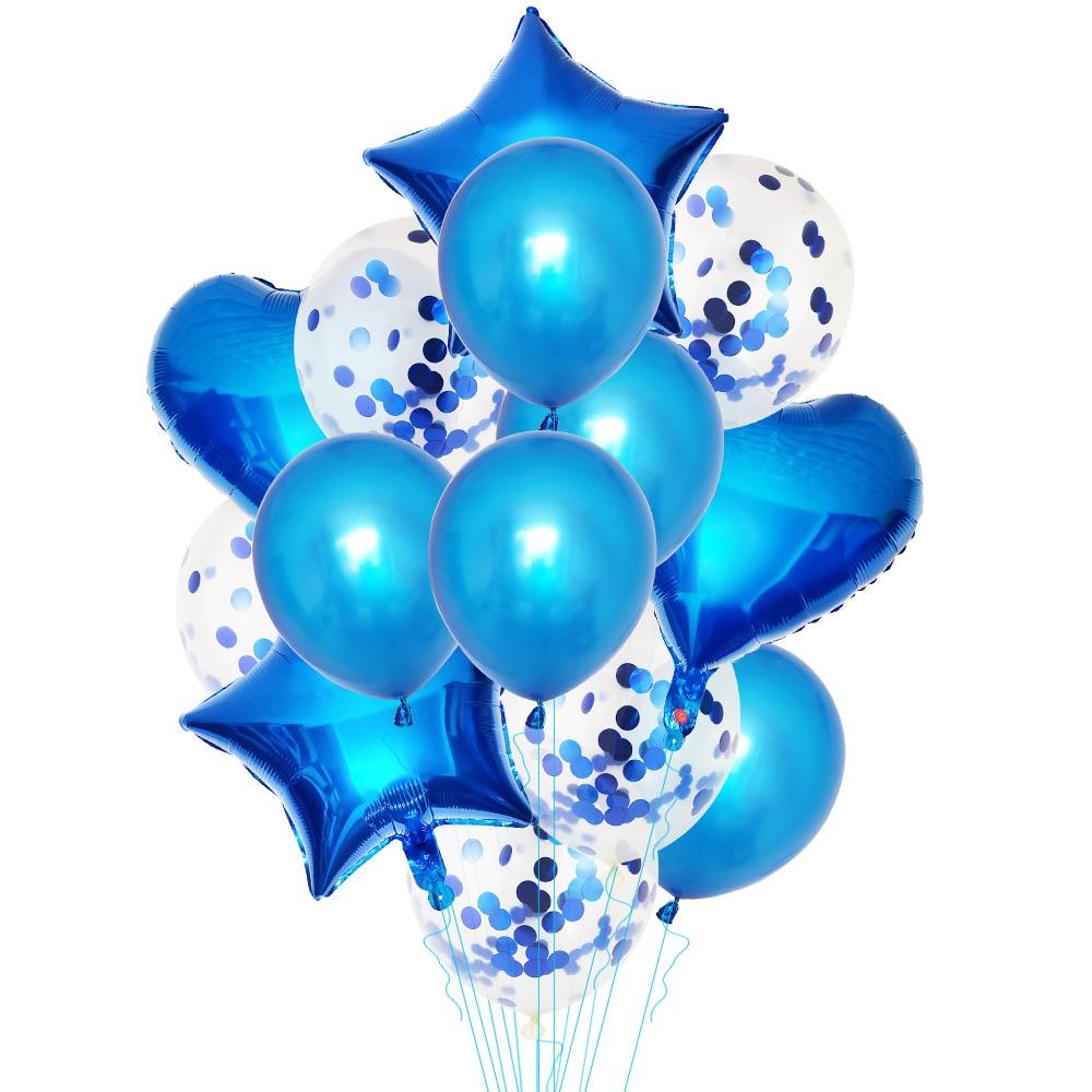 """14 шт. мульти воздушный шар """"Конфетти"""" с днем рождения воздушные шары розовое золото баллоны с гелием мальчик девочка ребенок душ вечерние принадлежности-4"""