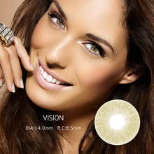 Contact Lenses Popular Natural European And American Style Large And Small Diameter  Mrs.H-vision