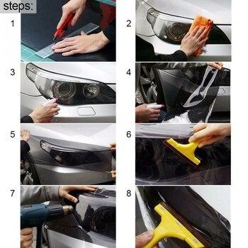 Vinilo Protector de coche película faro para capó antiarañazos reemplazo duradero accesorios prácticos