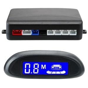 Image 5 - 자동차 자동 Parktronic LCD 디스플레이 주차 센서 시스템 부저 감지기 시스템 4 센서 12V DC 반전 레이더