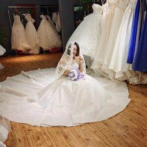 Image 2 - 2020 yeni tasarım lüks tam boncuk üst gelinlik dubai bling bling gelinlik custom made düğün gowng