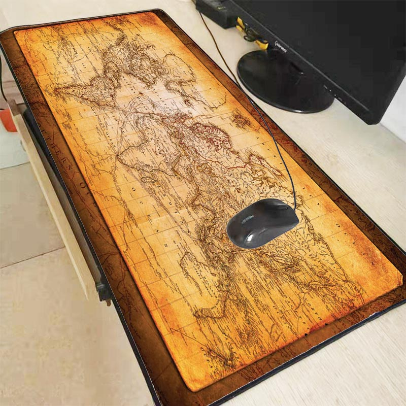 Mairuige  Large World Map Mouse Pad Mouse Notebook Computer Mousepad Gaming Mouse Mats Practical Office Desk Resting Surface