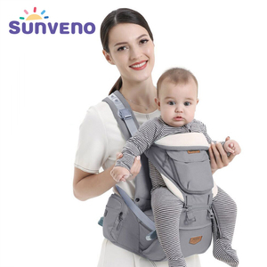 Sunveno Ergonomic Baby Carrier Infant Hip seat Carrier Kangaroo Sling Front Facing Backpacks for Baby Travel Activity Gear