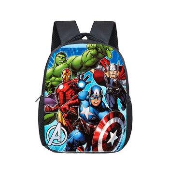 12 Inch Superhero Hulk Iron Man Backpack Schoolbags Girls Boys Children School Bags Kindergarten Toddler Backpack