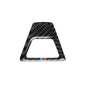 Image 4 - Carbon Fiber M Style Warning Light Button Covers Decal Decoration Car Interior Sticker for BMW 5 Series G30 G38 528i 530i 2018